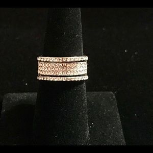 White Sapphire Sterling Silver Ring 7